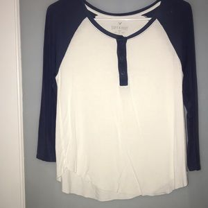 American Eagle Soft & Sexy 3/4 sleeve